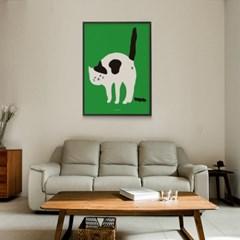 유니크 인테리어 디자인 포스터 M 맛동산 고양이