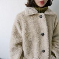 아이보리 테디베어 코트