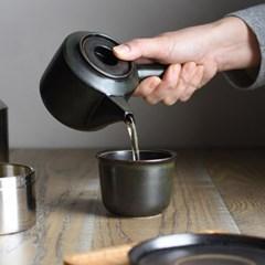[킨토] LT 컵&소서(블랙) 160ml