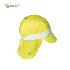 요바프 플랩캡 수영모자_레몬