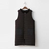 New Mink Long Puffer Vest