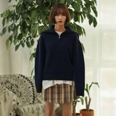 wide collar wool knit