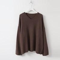 Angora Wool V-Neck Knit