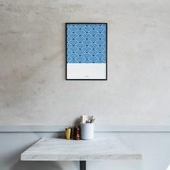 일본 인테리어 디자인 포스터 M 웨이브패턴 일본소품
