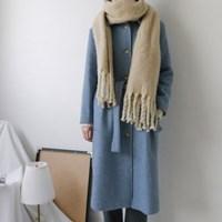 [WOOL70] 스카이 싱글 로브 코트 (2-COLORS)