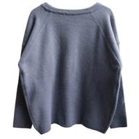round blue knit