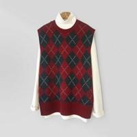 Argyle Knit VEST (3-color)