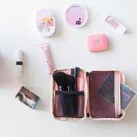 MULTI POUCH HANDS - pink cocoa