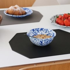 실리콘 폴리곤 식탁매트 - 블랙