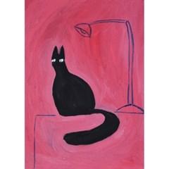 Black Cat on the Desk