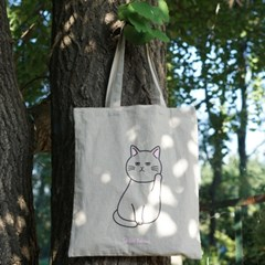 린넨 고양이 에코백 2type