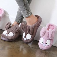 kami et muse Rabbit fur slippers_KM17w277