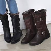 kami et muse Double belted fur middle boots_KM17w266