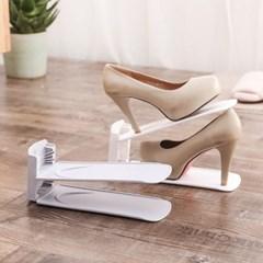 조절 가능한 2층구조 신발 정리대