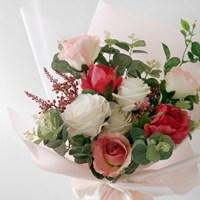 앨리스 로즈 & 유칼립투스 핑크 꽃다발(대)