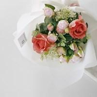 앨리스 로즈 & 블룸 플라워 화이트 꽃다발(중)