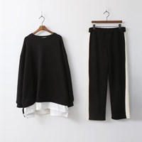 [Set] Gimo Sweatshirt N Pants