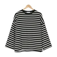 wide stripe napping tee