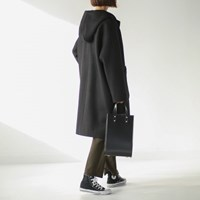 minimal pocket hood coat