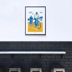 유니크 인테리어 디자인 포스터 M 자전거 라이딩