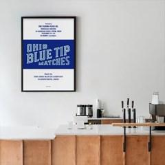 유니크 인테리어 디자인 포스터 M 오하이오블루팁매치스 영화포스터