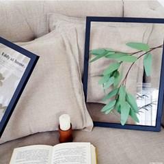 보타니컬 투명액자 - 그리너리 긴잎사귀 A3