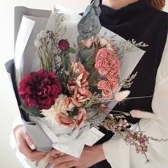 리시안 그레이 꽃다발