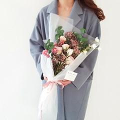 로즈 안개 꽃다발