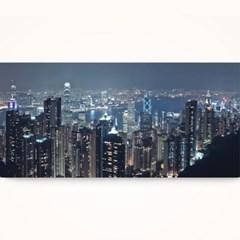 캔버스액자 /CAS539 홍콩의 야경 2 - 가로 와이드 대형 거실 액자