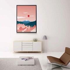 일본 인테리어 디자인 포스터 M 벚꽃후지산 일본소품