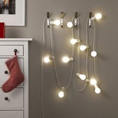 이케아 STRALA LED 체인조명12등(4m)_(701345444)