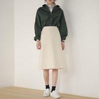 stripe cotton midi skirt