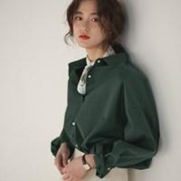 loose fit basic cotton shirts