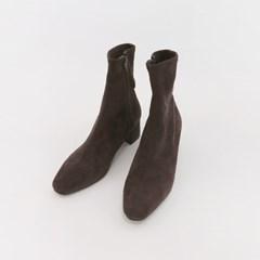 Dark suede ankle boots