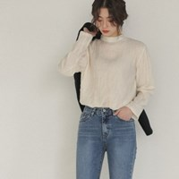 crease detail blouse