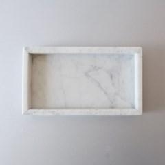 [marbled] 비앙코까라라 앵글 마블트레이
