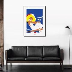 유니크 인테리어 디자인 포스터 M 바캉스2