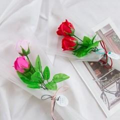 소프트 두송이 비누장미꽃다발 [2color]_(555356)