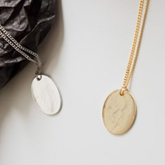 [치즈달] 12 - simple oval necklace