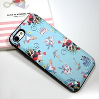 디즈니 앨리스 퓨리 패턴 카드 케이스 아이폰 갤럭시 LG