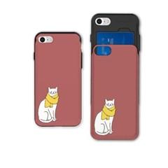 냥코케이스 슬라이더케이스 노란목도리 고양이(SAA-062)