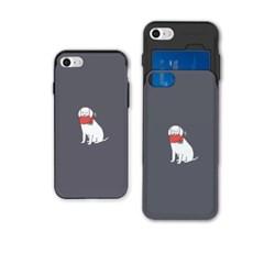 냥코케이스 슬라이더케이스 빨간목도리 강아지gre(SAA-051)