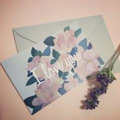 PP POSTCARD SET - a flower of love 4종 택1