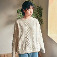 클로저 케이블 스웨터