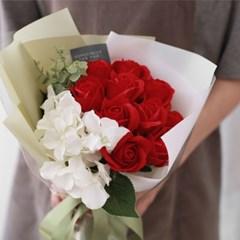 [DIY키트] 10송이 비누장미와 수국꽃다발만들기_(556088)