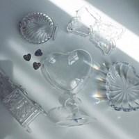 Clear Heart Vase
