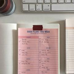 weekly planner_pink