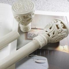 [모모제작소] 커튼봉(지름2.5cm) 화이트