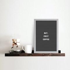 A4 블랙 레터보드 DIY 세트 - 화이트,그레이Frame(알파벳284개포함)