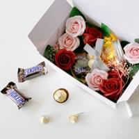 발렌타인 데이 초콜릿 메이슨자 조명 선물박스